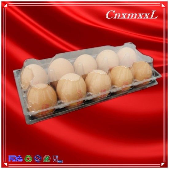 10 pcs clear egg tray